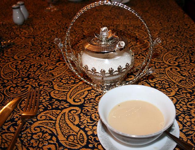 чай со сливками и солью