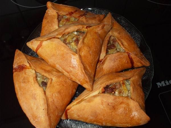 Пирог с картошкой и мясом по-татарски с